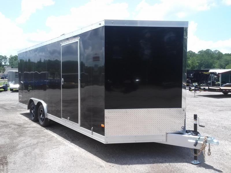 WAUV85X2022 WELLS CARGO 8.5X20 SILVER SPORT ALUMINUM ENCLOSED CAR HAULER