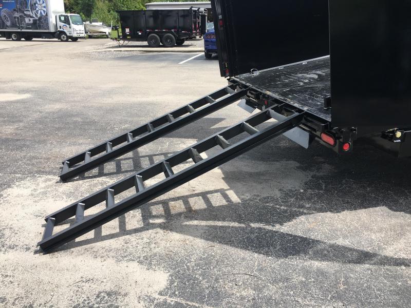 16LX-16 BIG TEX 7' X 16' DUMP TRAILER W/ 17500# GVWR & HYDRAULIC JACK