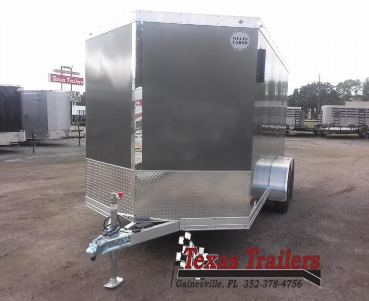WAUV7X1422 WELLS CARGO 7X14 SILVER SPORT ALUMINUM ENCLOSED CARGO TRAILER W/ CUSTOM OPTIONS