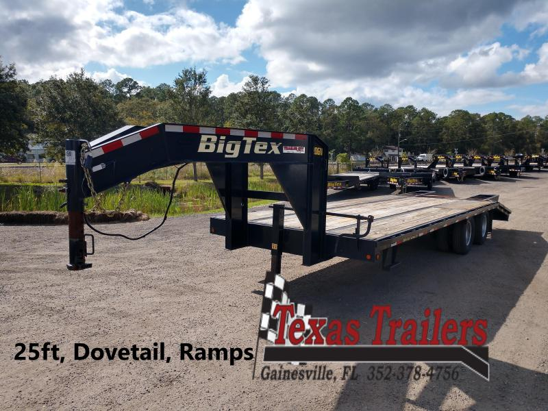 2016 Big Tex Trailers Big Tex 25 ft Gooseneck Flatbed Trailer with Ramps Flatbed Trailer