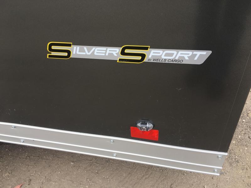 WAUV7X1622 WELLS CARGO 7X16 SILVER SPORT ALUMINUM ENCLOSED CARGO TRAILER W/ CUSTOM OPTIONS