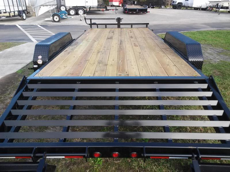 14ET-20BK-KR BIG TEX 20' TANDEM AXLE EQUIPMENT TRAILER W/ 3' KNEE RAMPS
