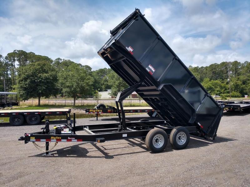 14LP-16BK6-P4 BIG TEX 7' X 16' DUMP TRAILER W/ TARP & 4' TALL SIDES