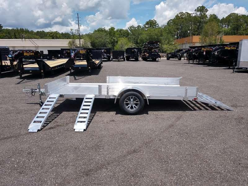 MU80X14AR-2.0 MISSION 6'8 X 14' ALUMINUM UTILITY TRAILER W/ SIDE LOAD RAMPS