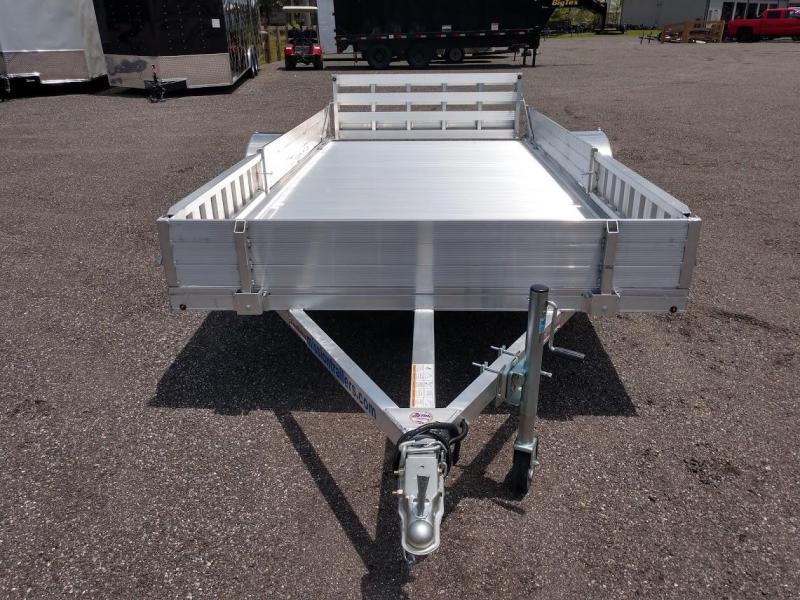MU80X14AR-2.0 MISSION 6'8 X 14' ALUMINUM UTILITY TRAILER W/ SIDE LOAD RAMPS