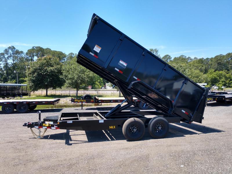 14LX-16BK-P4 BIG TEX 7' X 16' DUMP TRAILER W/ 4' SIDES & TARP INSTALLED