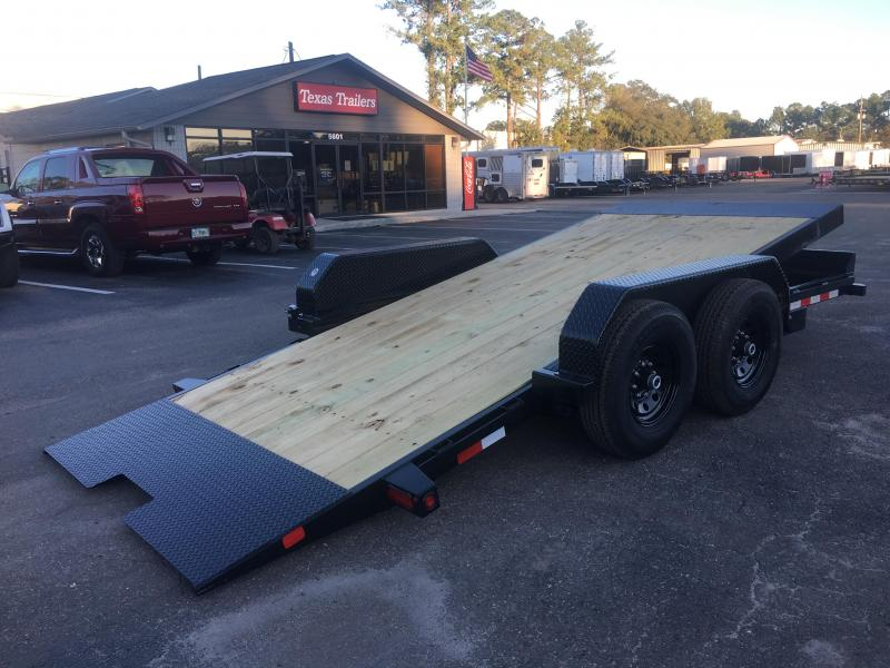 14FT-16BK BIG TEX 16' TANDEM AXLE FULL TILT DECK EQUIPMENT TRAILER