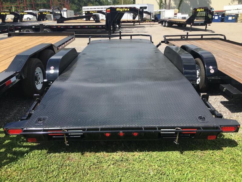 10DM-20BK BIG TEX 20' STEEL DECK CAR HAULER W/ STABILIZER JACKS