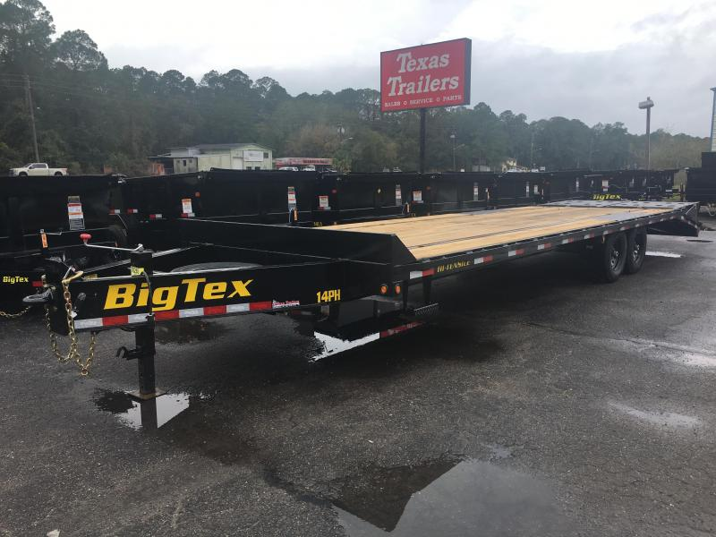 14PH-25BK+5MR BIG TEX 30' FLATBED TRAILER W/ MEGA RAMPS