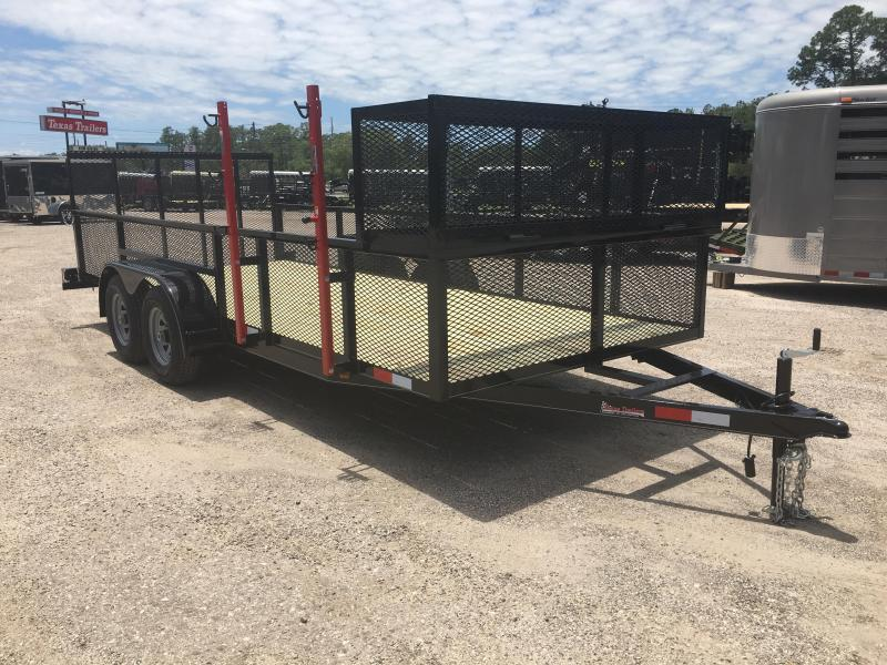 "LM61810 TEXAS TRAILERS 6'10""X18' LAWN MAINTENANCE TRAILER W/ CUSTOM OPTIONS"