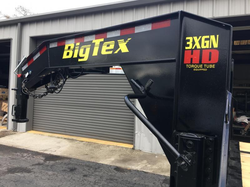 3XGN-28+5 BIG TEX 33' GOOSENECK DUAL TANDEM FLATBED TRAILER & FREE SPARE TIRE
