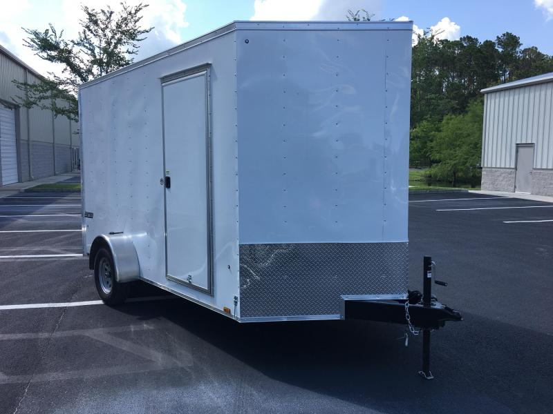 """JV7X12SE2 PACE AMERICAN 7 X 12 ENCLOSED CARGO TRAILER W/ 12"""" EXTRA HEIGHT"""