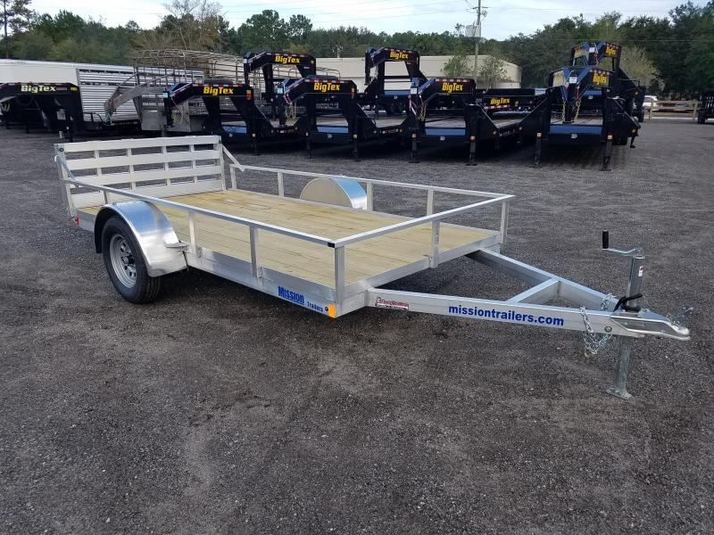 2020 Mission MU72X12WR2.0 6X12 Aluminum frame Folding Ramp Wood Deck Utility Trailer