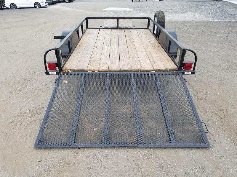 2014 Texas Trailers Used 2014 Texas Trailer 6X10 utility trailer with spare tire ramp gate, and Aluminum storage box Utility Trailer