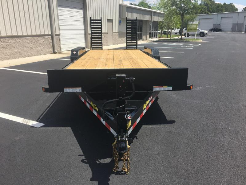 16ET-19+3 BIG TEX 22' EQUIPMENT TRAILER WITH STAND UP RAMPS