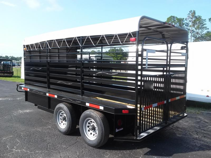ST1410B TEXAS TRAILERS 14' BUMPER PULL STOCK TRAILER