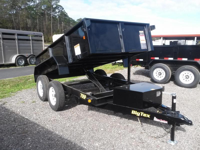 70SR-10-5WDD BIG TEX 5' X 10' DUMP TRAILER W/ DOUBLE REAR DOORS