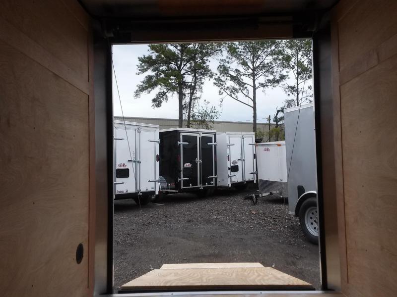 GANS58SA CARGO MATE 5 X 8 ENCLOSED CARGO TRAILER W/ REAR RAMP DOOR AND SIDE DOOR