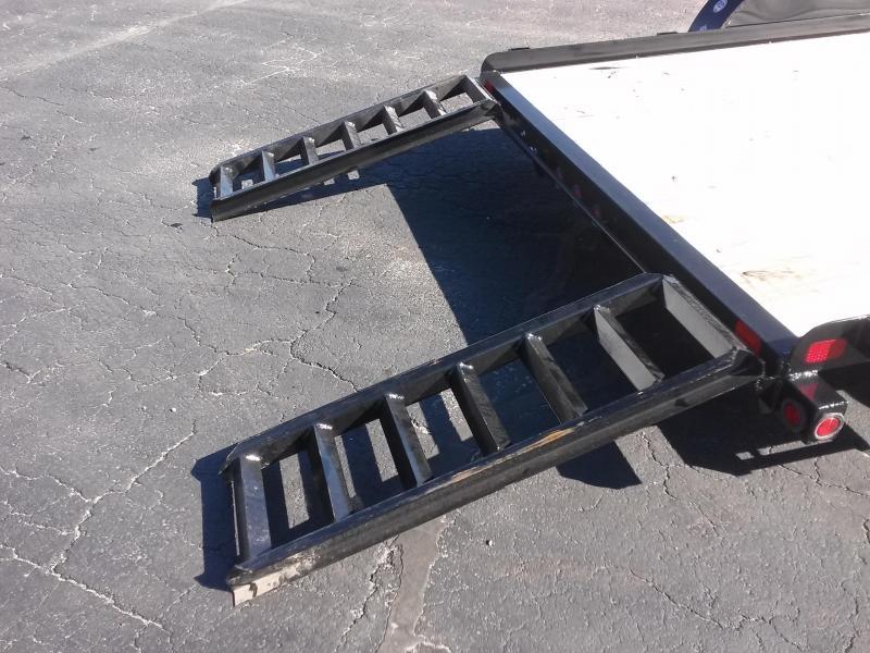 "60CH-16BK BIG TEX 6'11"" X 16' CAR/ATV HAULER W/ SLIDE OUT RAMPS"
