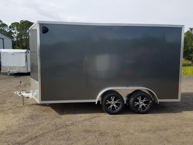 2020 Mission EZEC 7.5 X 14 Enclosed Cargo Trailer with rear Ramp & side door
