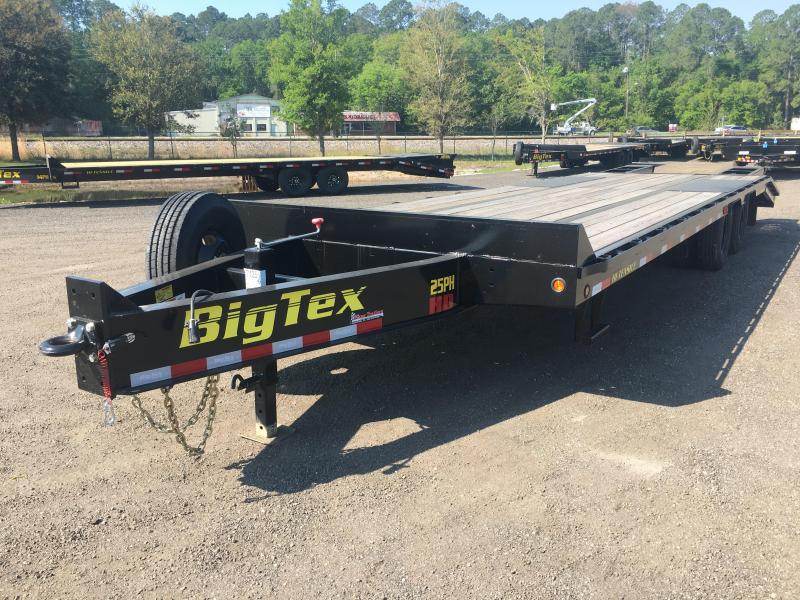 25PH-25BK+5 BIG TEX 30' FLATBED TRAILER W/ LOAD RANGE G 14-PLY TIRES