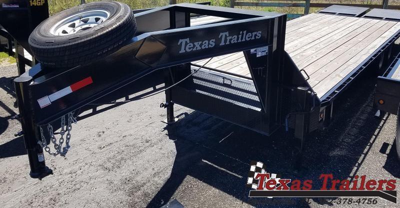 2019 Texas Trailers FB2514G Flatbed Trailer