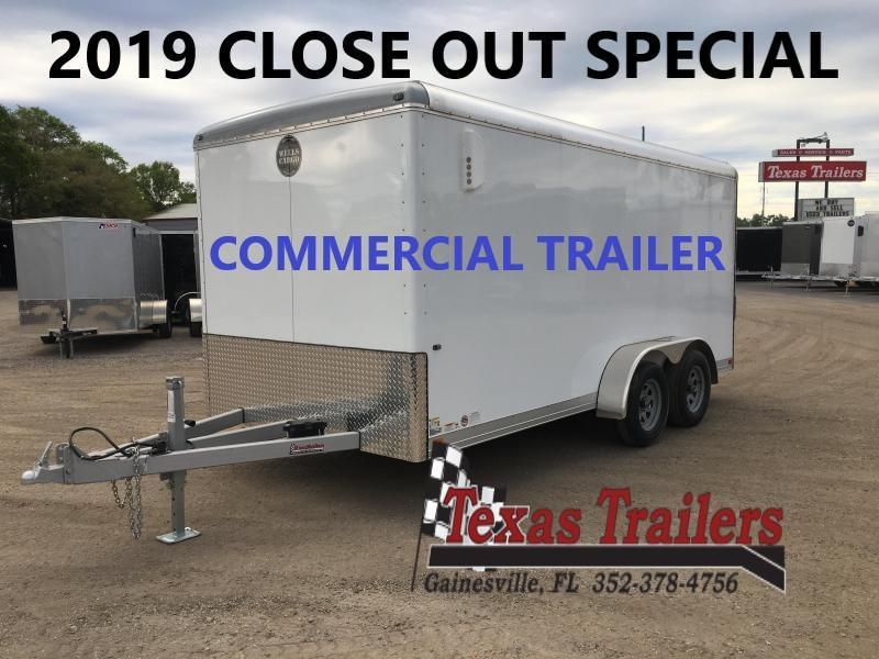 CW1622-102 WELLS CARGO 7X16  COMMERCIAL CARGO WAGON W/ 6-YEAR STRUCTURAL WARRANTY