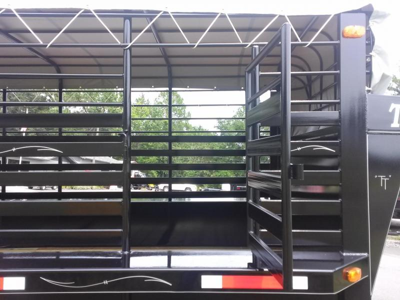 ST2012G TEXAS TRAILERS 20' GOOSENECK STOCK TRAILER