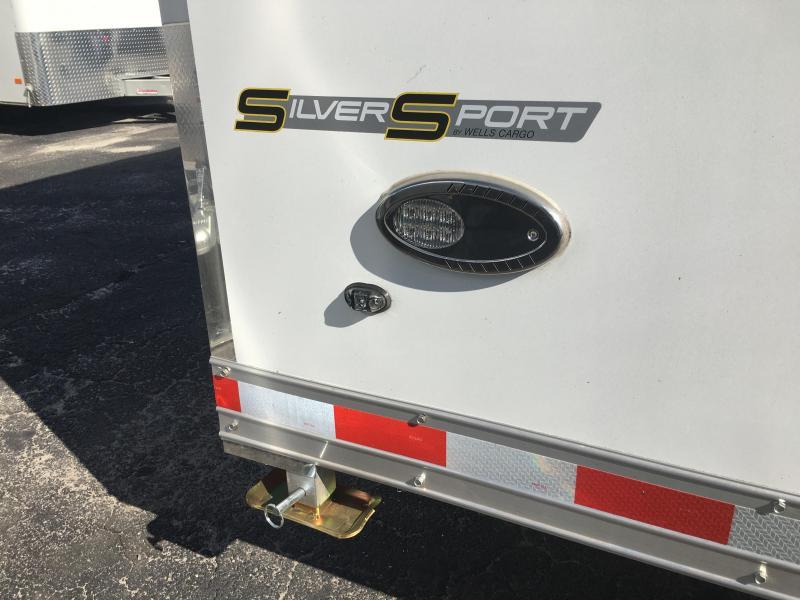 WAR85X2825 WELLS CARGO 8.5X28 SILVERSPORT ALUMINUM CAR HAULER W/ CUSTOM OPTIONS