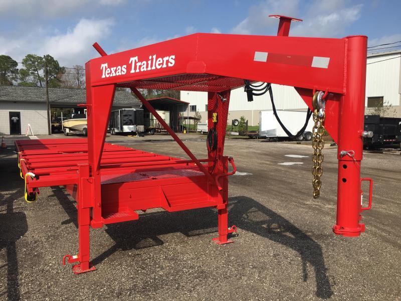 CT3516G TEXAS TRAILERS 35' CUSTOM ROLLER TRAILER