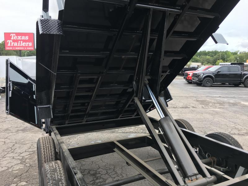 14LX-16 BIG TEX 7' X 16' DUMP TRAILER W/ 4' SIDES & HYDRAULIC JACK