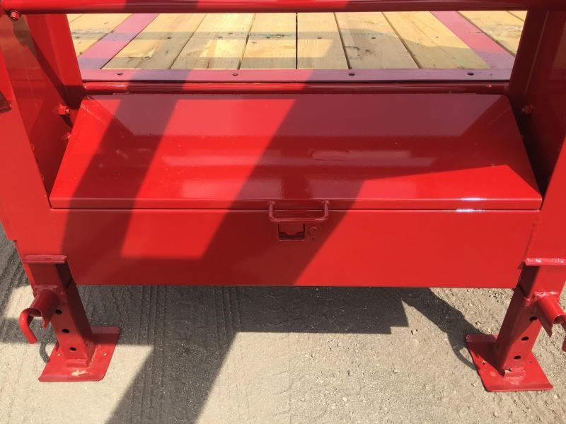 22GN-30BK+5MR BIG TEX 35' GOOSENECK DUAL TANDEM FLAT BED W/ MEGA RAMPS & FREE SPARE TIRE