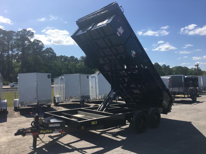 16LX-16 BIG TEX 7' X 16' DUMP TRAILER W/ 17500# GVWR