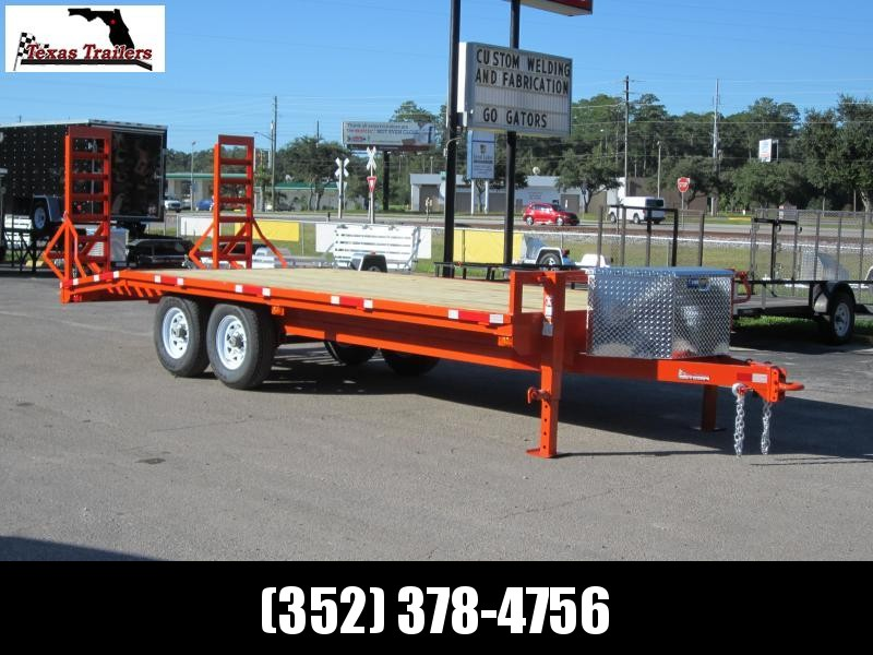 2020 Texas Trailers Bumper Pull Flatbed Trailer Flatbed Trailer