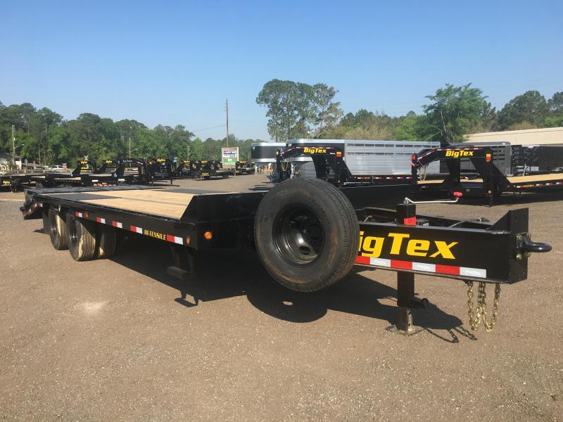 25PH-20BK+5MR BIG TEX 25' FLATBED TRAILER W/ MEGA RAMPS & LOAD RANGE G 14-PLY TIRES
