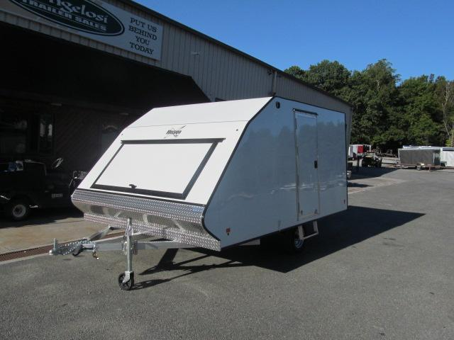 Mission 2 Place Crossover w/ Side Door and Ski Guides Snowmobile Trailer