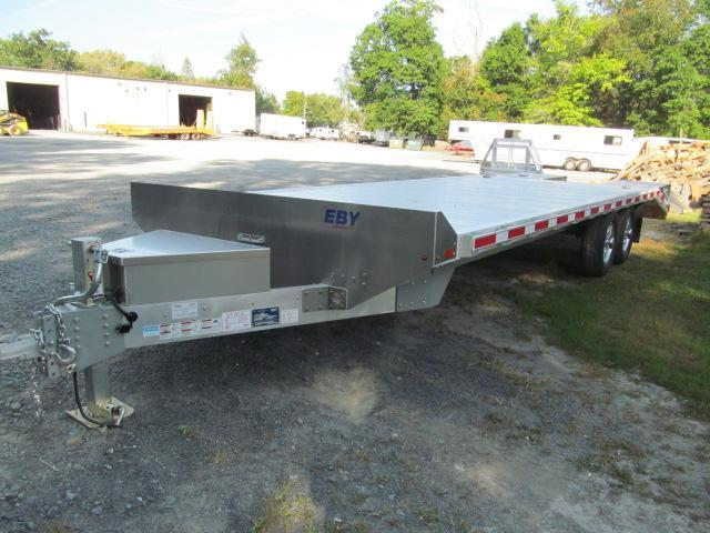 2019 Eby Tradesman 24 Ft Flatbed Deckover Equipment Trailer