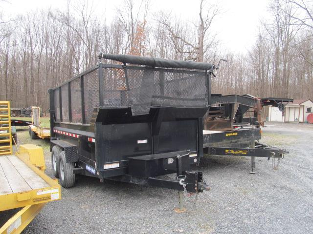 2016 Sure-Trac 7 X 12 Dump with Mesh High Sides Dump Trailer