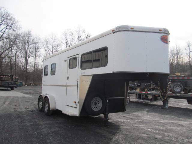2012 Sundowner Trailers 2 Horse Slant Gooseneck with DR Horse Trailer