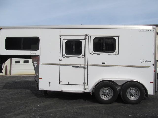 2012 Sundowner Trailers 2 Horse Slant Gooseneck with DR Horse Trailer