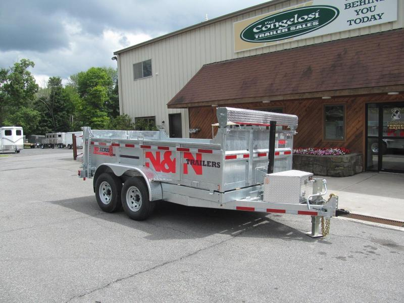 N and N HD Series 7 X 14 Galvanized Dump Trailer