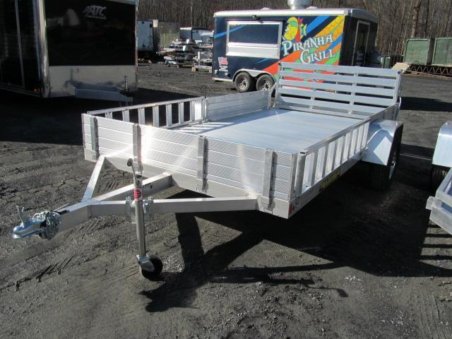 2020 Aluma 8112SR w/ ATV Ramps Utility Trailer