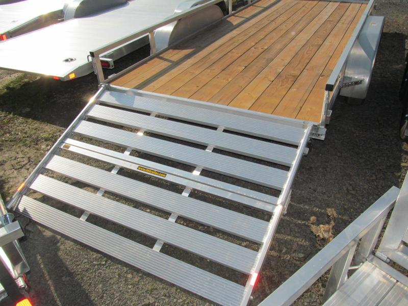 H and H 7 x 16 Aluminum Double Axle Utility Trailer
