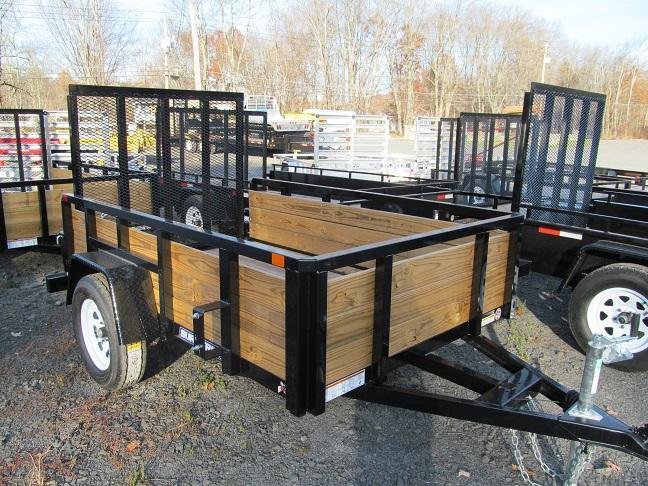 Sure-Trac 5 X 8 3 Board Tube Top Utility Trailer