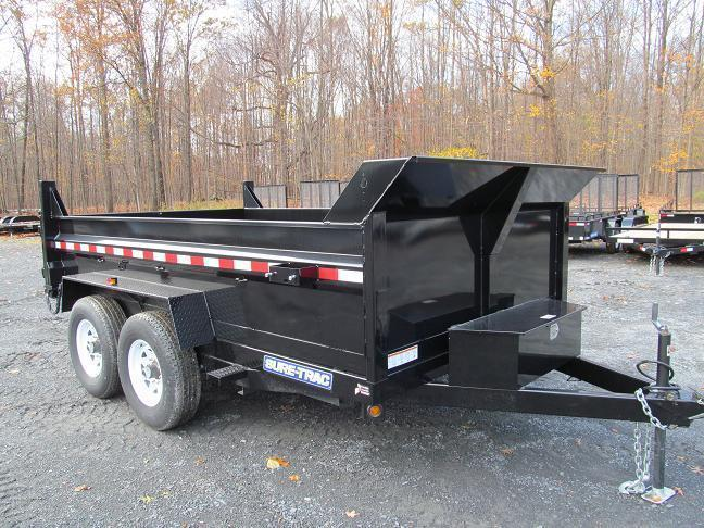 Sure-Trac 7 X 16 14K Low Profile Dump Trailer