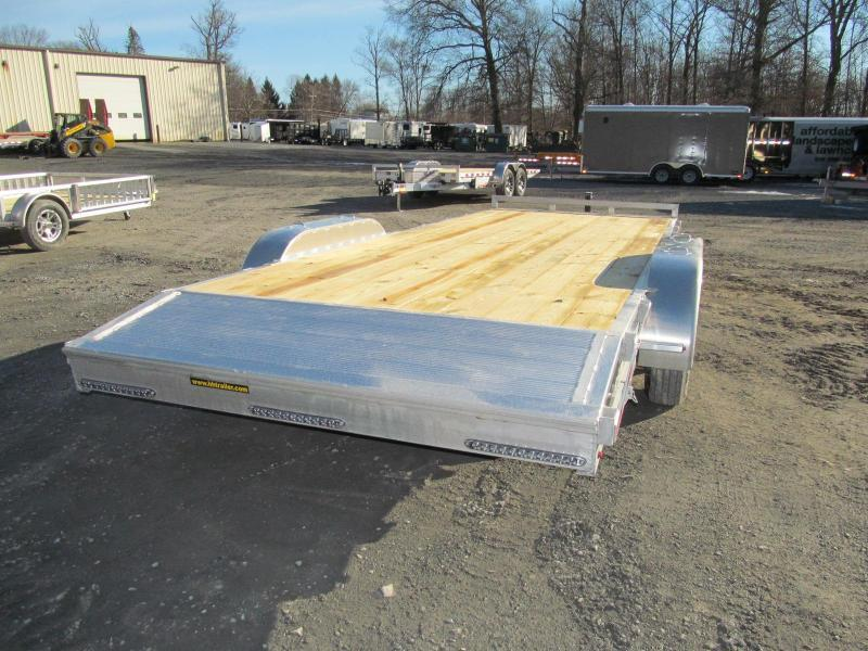 H and H Trailer Aluminum Flatbed 18 Ft 10K Equipment Trailer