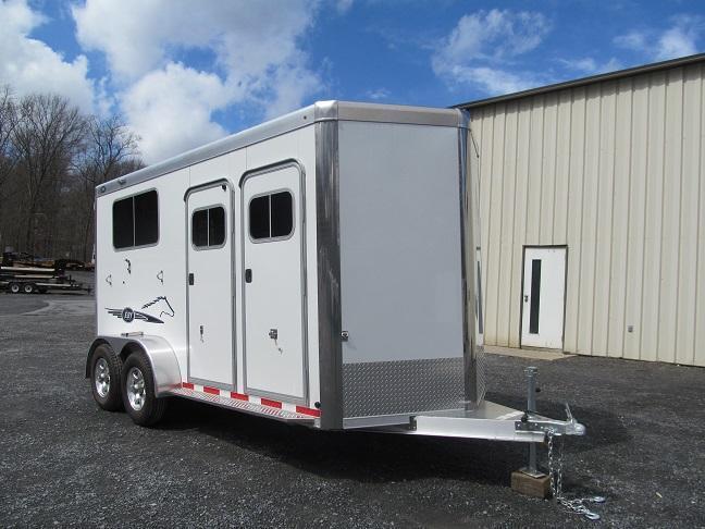 2 Horse Trailer Horse Stock Utility Car Equipment