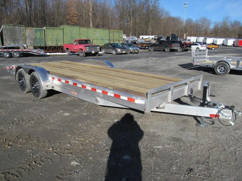 H and H Trailer Aluminum Flatbed 20 Ft 10K Equipment Trailer