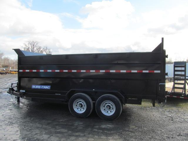Sure-Trac 7 X 16 14K Dump with 4 Ft Sides