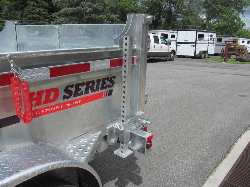 N and N HD Series 7 X 12 Galvanized Dump Trailer